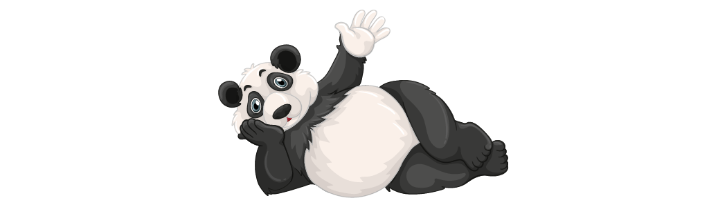 Zwaaiende panda