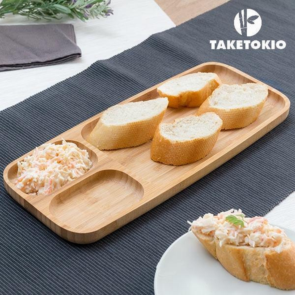 TakeTokio Bamboe Dienblad met Compartimenten