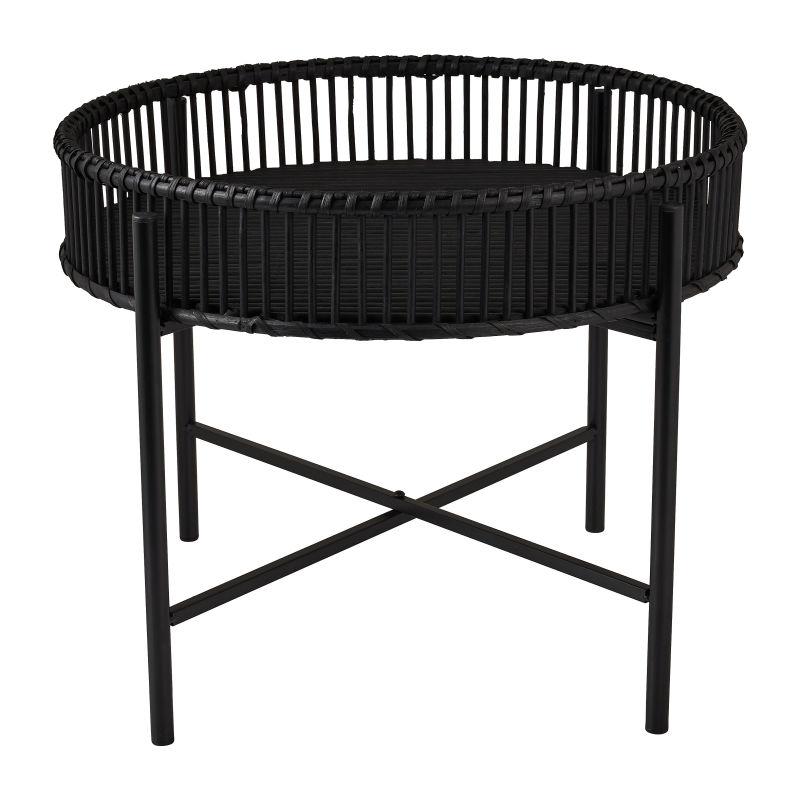 Bijzettafel met bamboe tray - ø49x40 cm