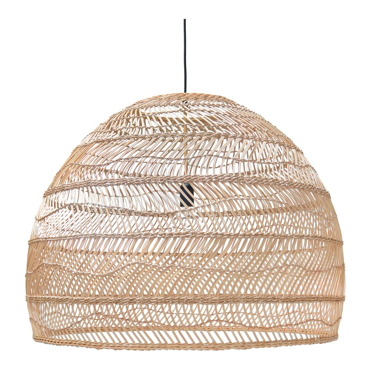 HKliving hanglamp riet naturel 60 x ø80
