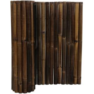 Bamboemat zwart 180 x 100 cm x 50-60 mm