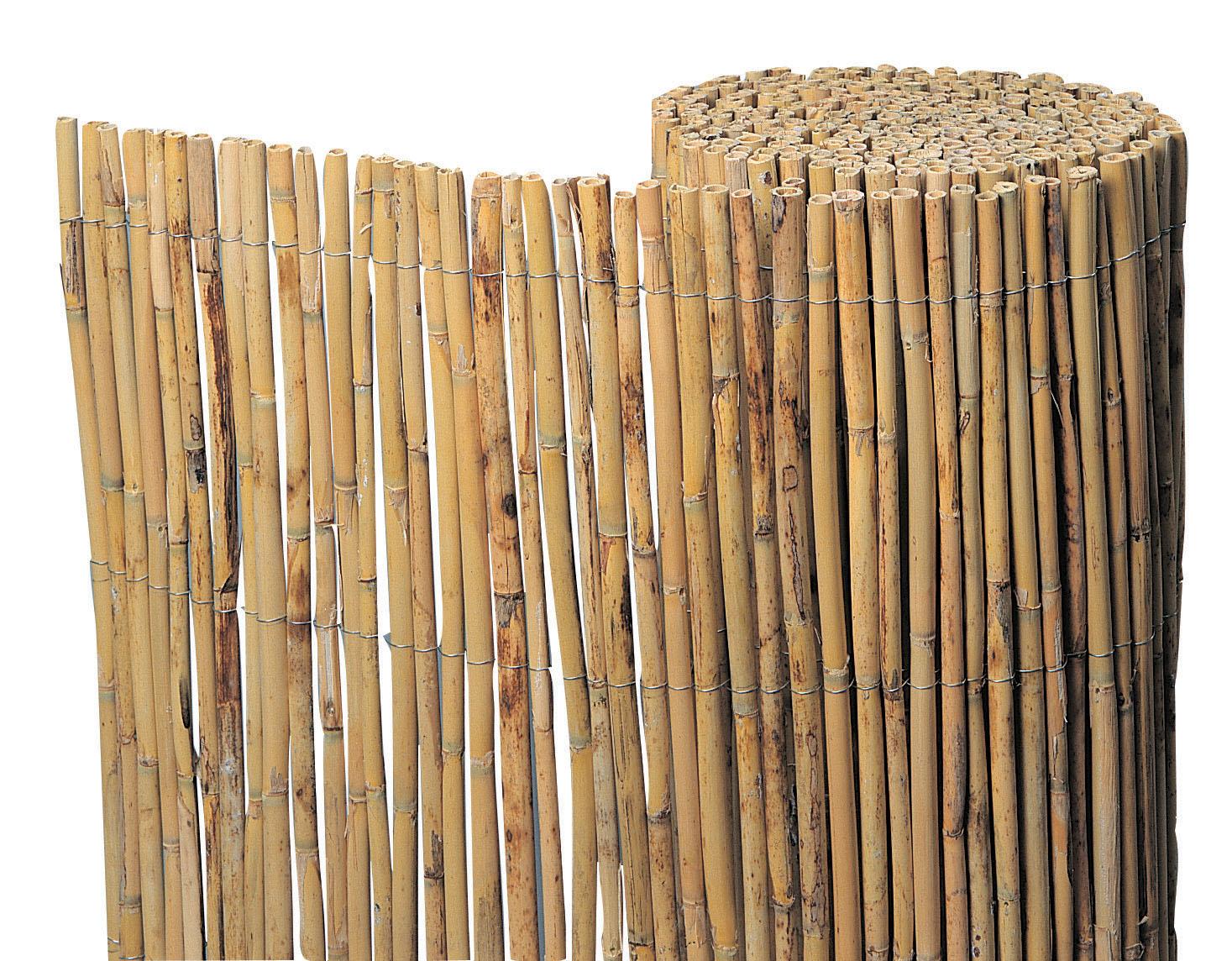 Bamboematten tuinscherm exclusief 150x500cm
