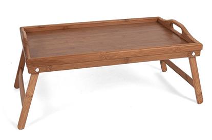 Dienblad voor op bed – Dienblad met pootjes – Bamboe- Houten serveerplateau Bed V&D
