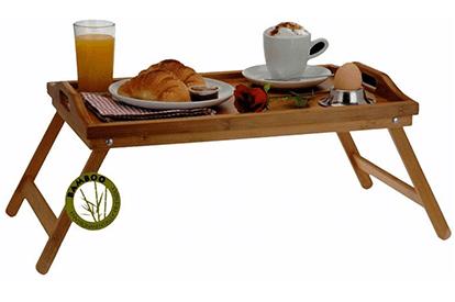 Dienblad voor op bed (bamboe) bol.com