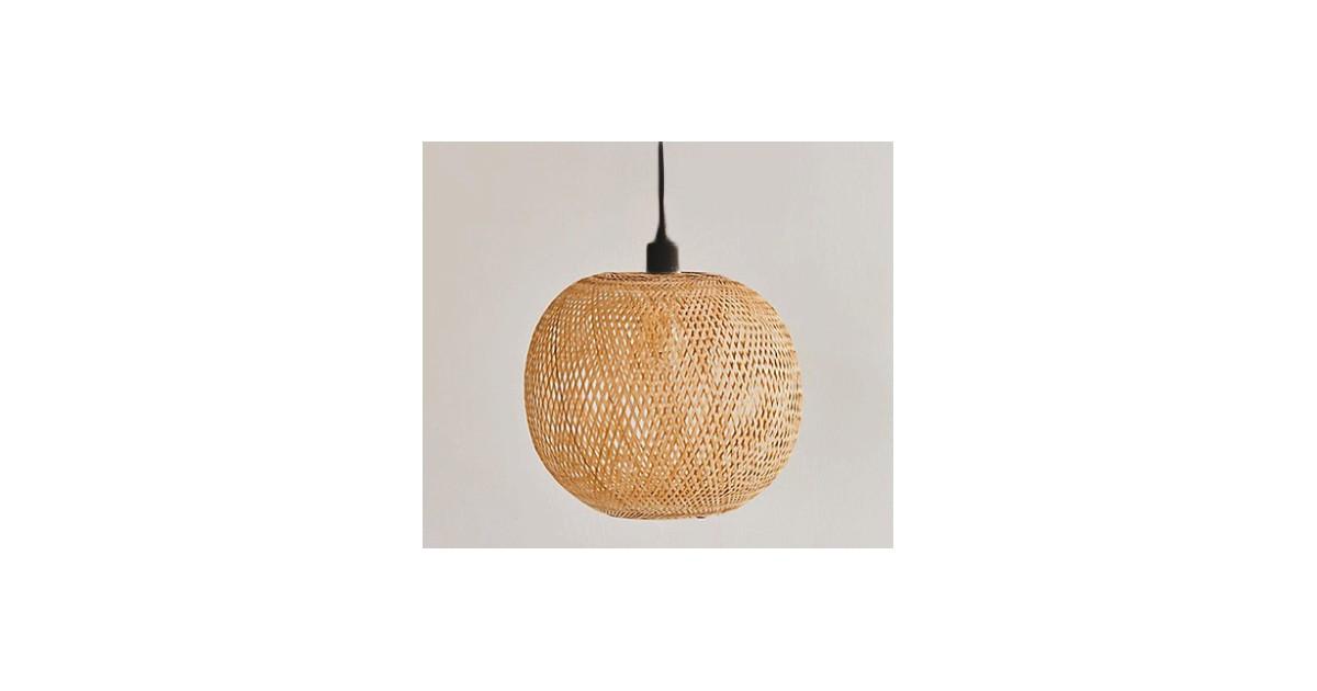 Groenovatie Bamboe Hanglamp, Handgemaakt, Naturel, ⌀43 cm