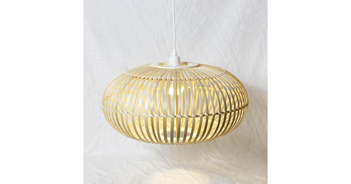 Groenovatie Bamboe Hanglamp, Handgemaakt, Naturel, ⌀50 cm