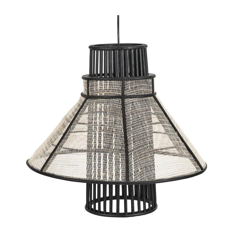 Hanglamp bamboe - zwart/naturel - 47x43 cm