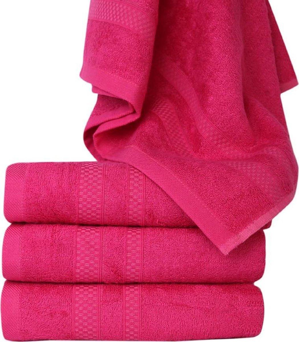 Homéé® Bamboe handdoeken - set van 4 - Fuchsia - 50x90cm