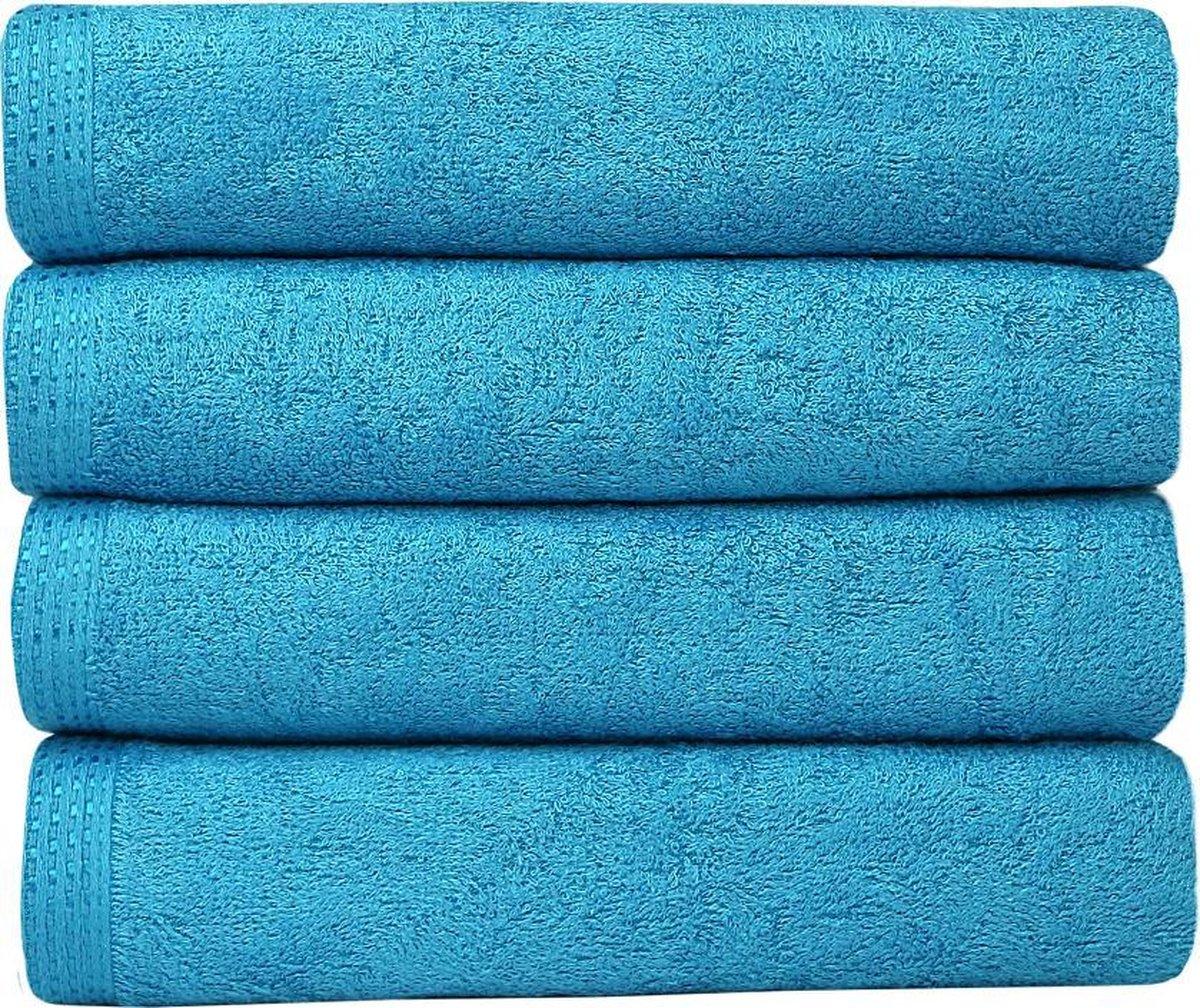 Homéé® Bamboe handdoeken - set van 4 - Turquoise 50x90cm