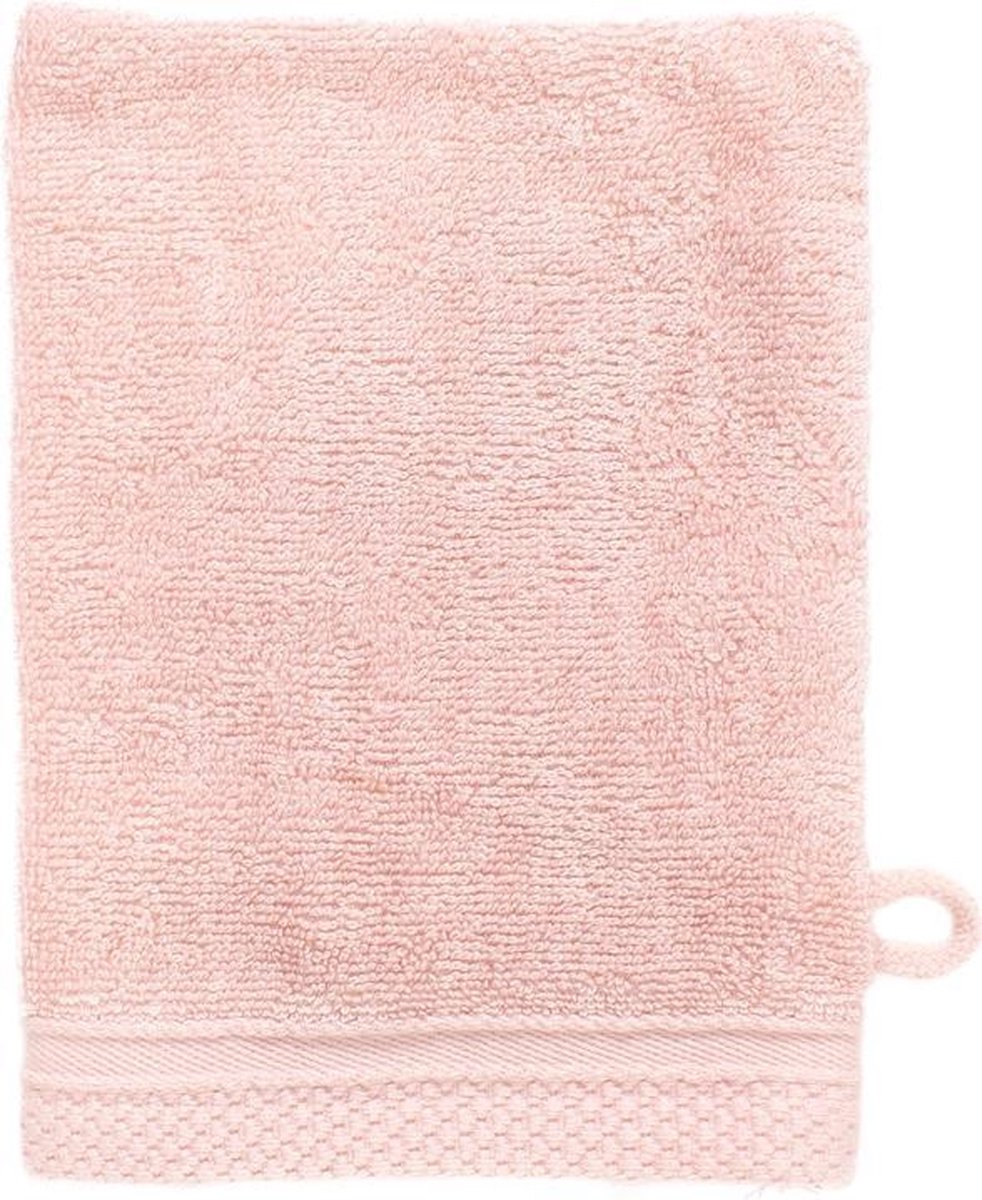 The One Towelling Washand Bamboe 16 x 21 cm Zalm Roze