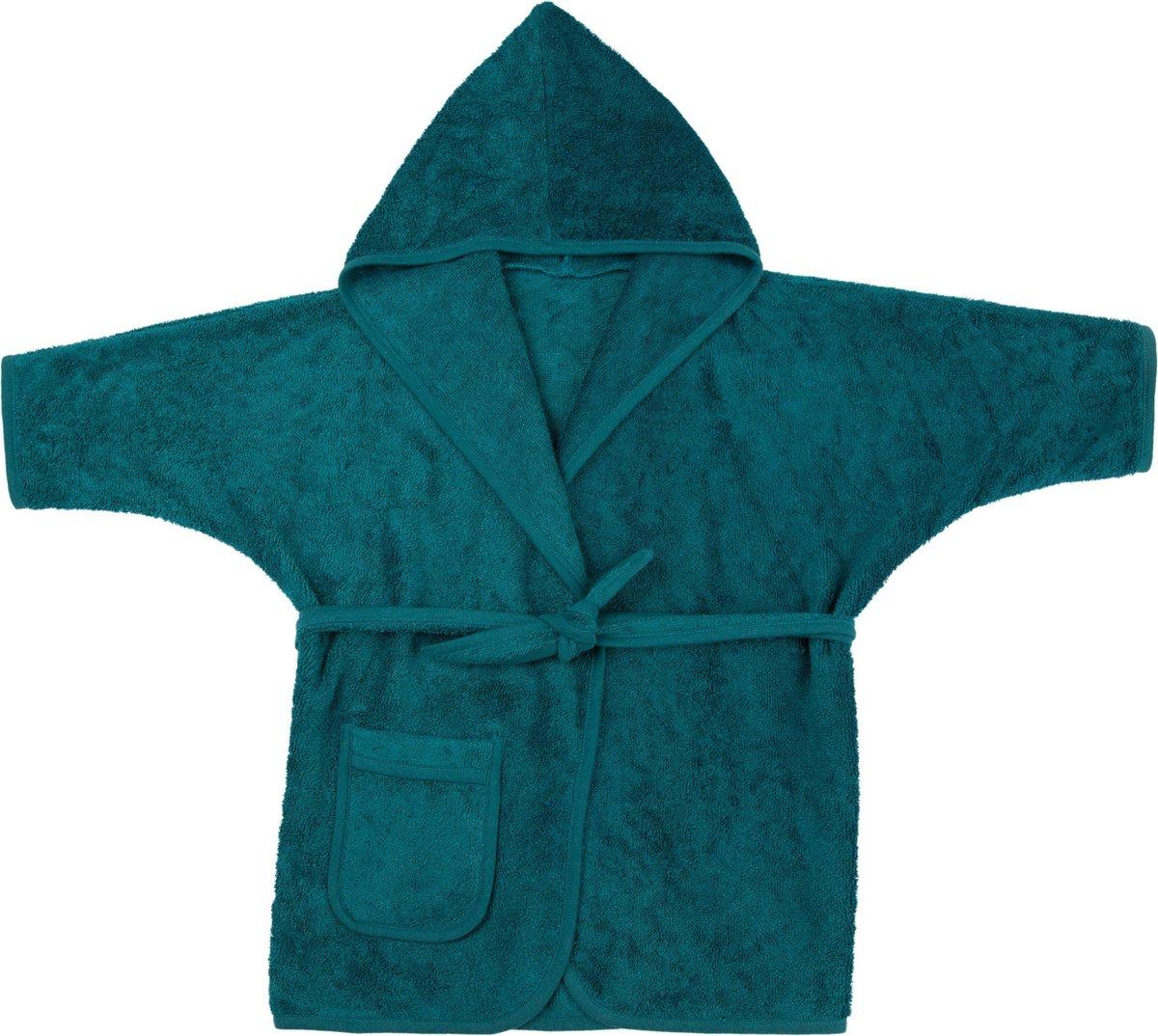 Timboo Badjas kind Deep Lake 4/6 jaar - Bamboe - Extra zacht - Kinderbadjas - Blauw