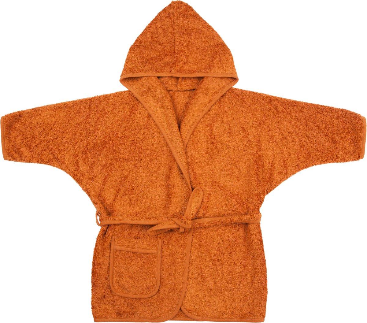 Timboo Badjas kind Inca Rust 8/10 jaar - Bamboe - Extra zacht - Kinderbadjas - Roest