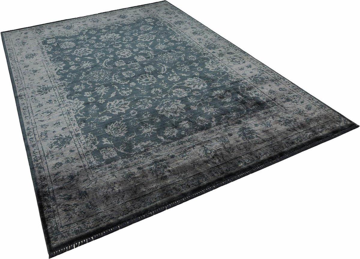 Albiga Vintage Vloerkleed - Bamboe - Antraciet - 200x290 cm