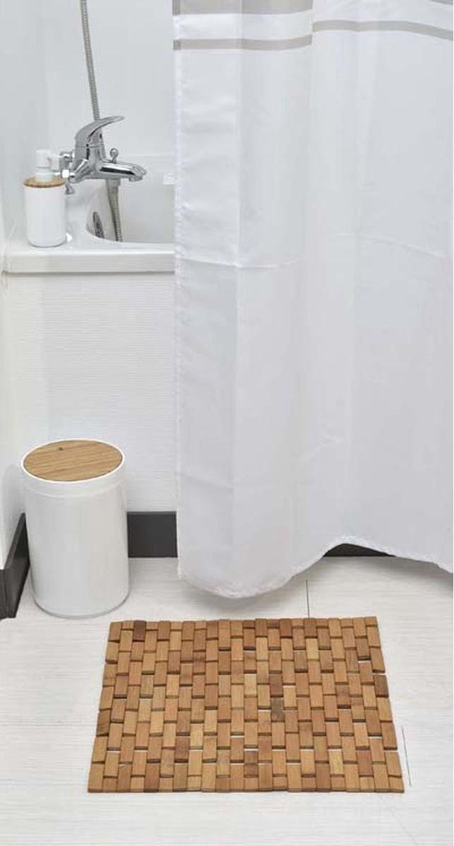 Bamboe Badmat/board - Honey Kleur - Voor douche of bad - Bamboe doucheplatform - 45x45cm - Zwembad - Sauna