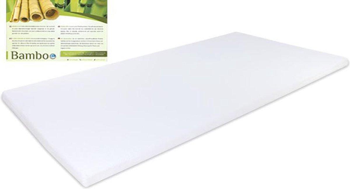 Bamboe - Traagschuim Nasa Visco - Topmatras Topdekmatras - 70x210 - 7cm dik