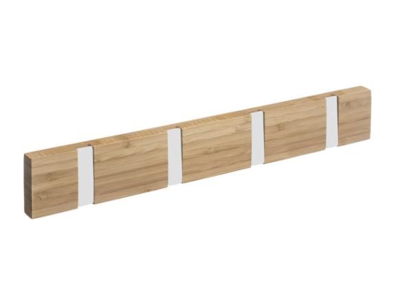Bamboe deurkapstok met uitklapbare haken