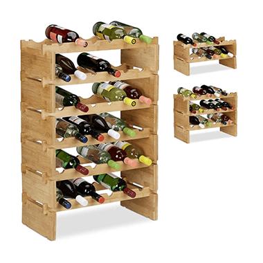 Flexibel met een stapelbare wijnhouder