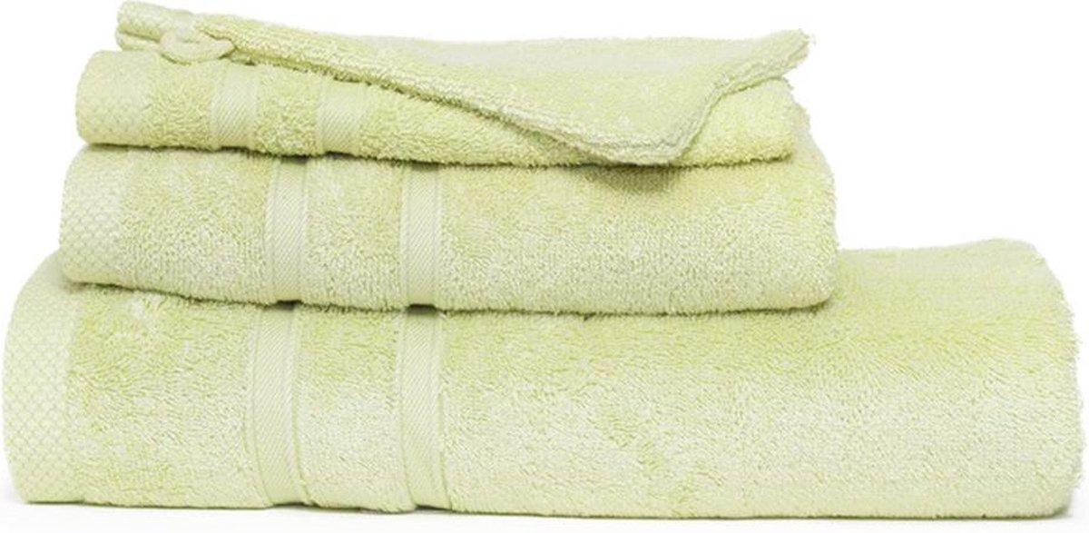I2T Bamboe handdoeken 50x100 cm - Set van 10 - Licht olijf - 600 gr/m²