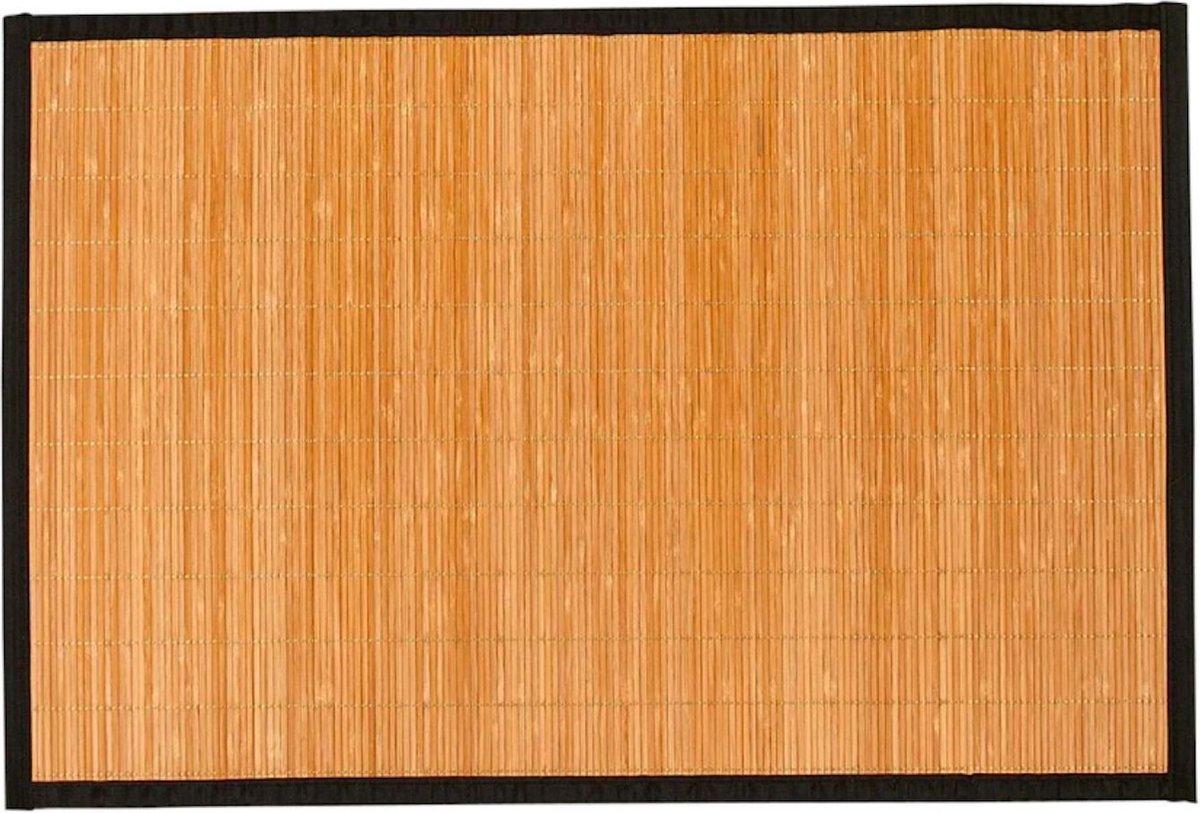 Lucy's Living Luxe vloerkleed BAMBOE Naturel- 60 x 90 cm - woonkamer - tapijt - bamboe - slaapkamer - kinderkamer - vloerbedekking - wonen - voor binnen en buiten