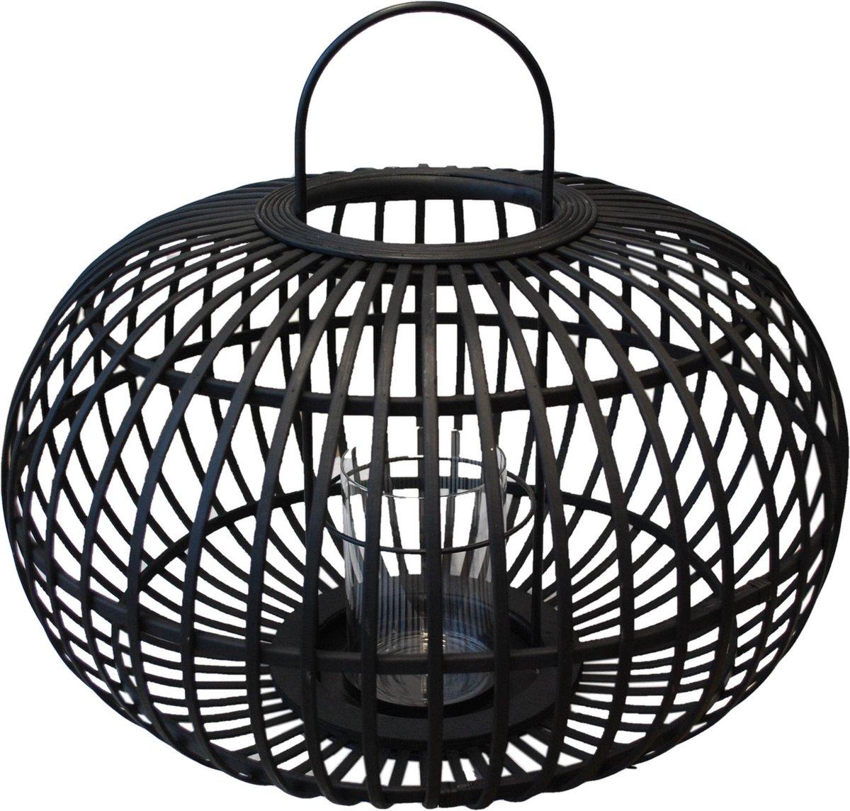 PH design Bamboe lantaarn zwart Ø49cm windlicht bamboo