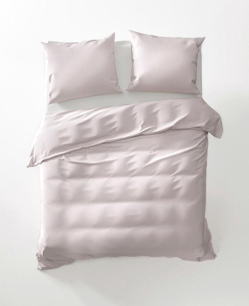 YELLOW Bamboo Dekbedovertrek - Litsjumeaux - 240x200/220 cm - Soft Pink
