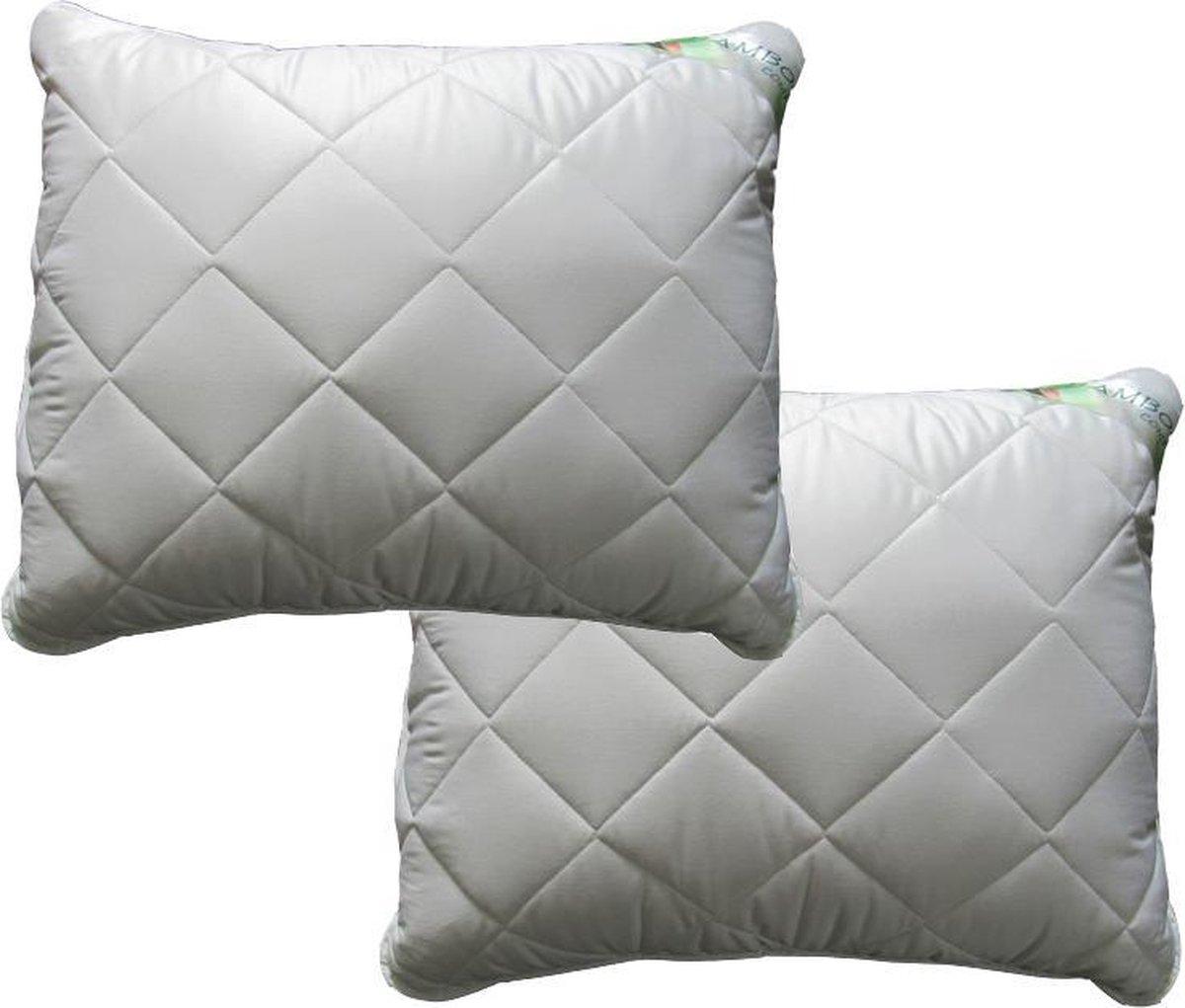 iSleep Bamboo Comfort Hoofdkussen Set (2 Stuks) - 60x70 cm - Wit
