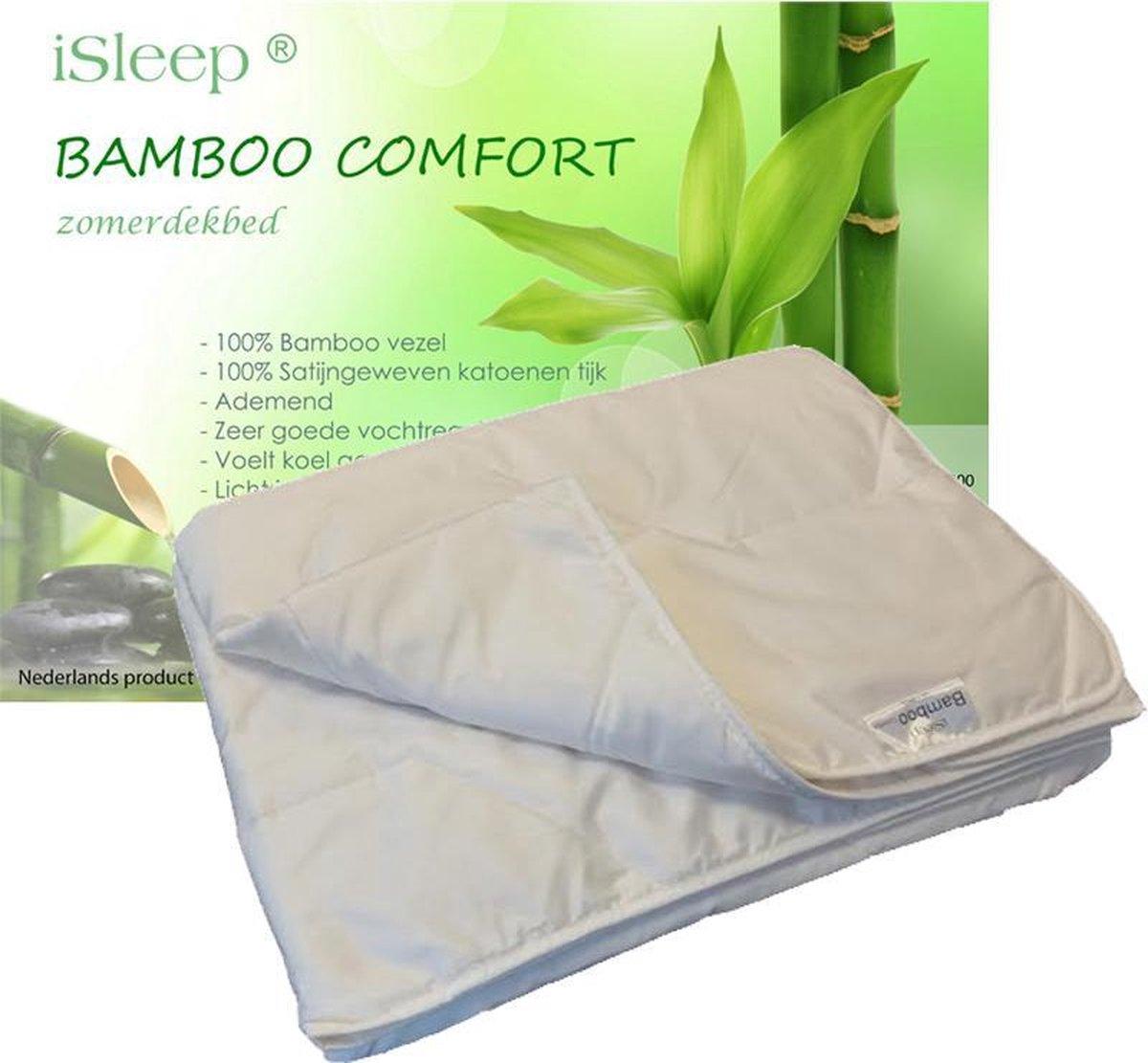 iSleep Zomerdekbed Bamboo Comfort - Litsjumeaux - 240x220 - Wit