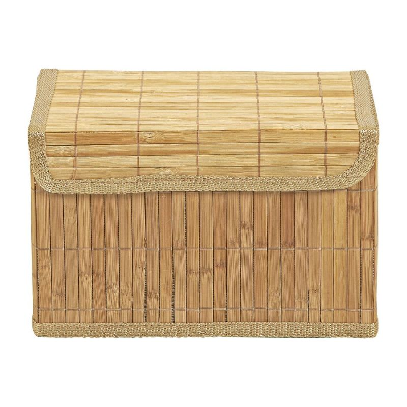 Opbergmand bamboe latjes - 19x28.5x18 cm