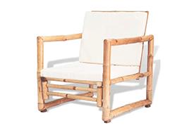 Bamboe Loungeset stoel