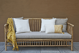 Exotan Bamboe Loungeset met kussens en hamamdoek