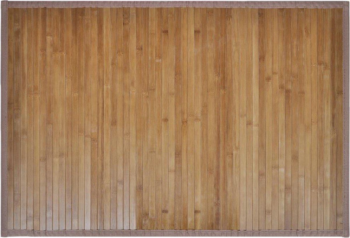 vidaXL Badmatten 40x50 cm bamboe bruin 2 st