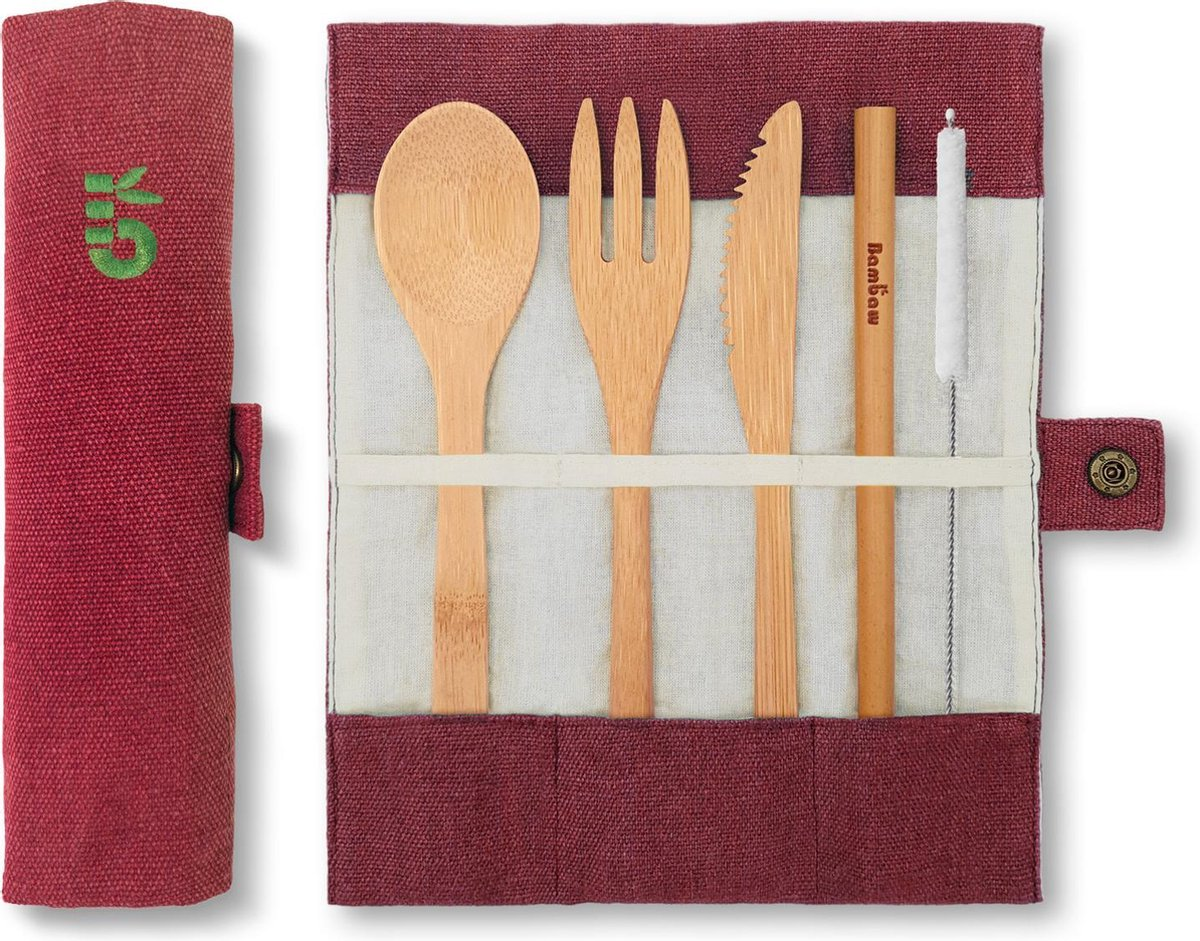 4-Delige Bamboe Bestekset | Berry