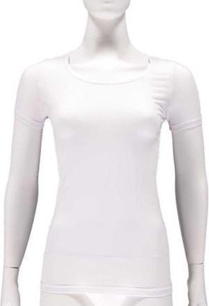 Apollo T-shirts Dames Bamboe Ronde Hals Wit 2 Stuks Maat S