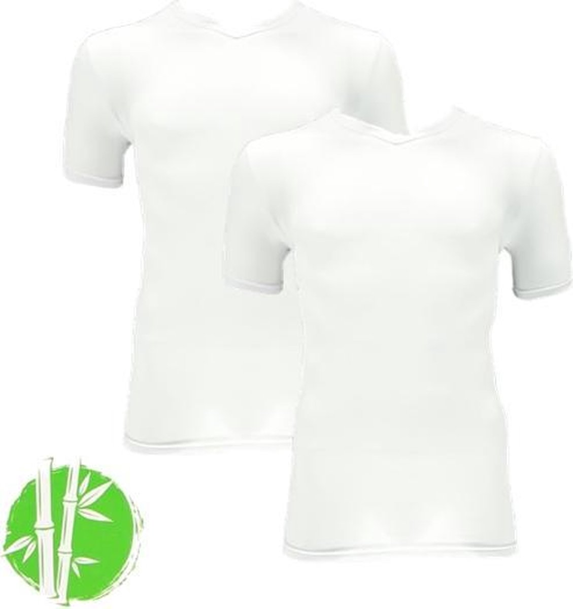 Apollo bamboo t-shirts | MAAT L | 2-pack heren t-shirts | wit