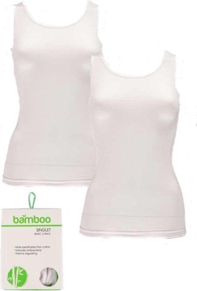 Apollo dames hemden Bamboo | MAAT S | 2-pack | wit