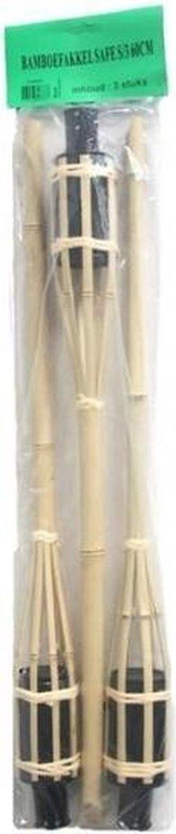 Bamboe fakkels safe 3 stuks 60 cm