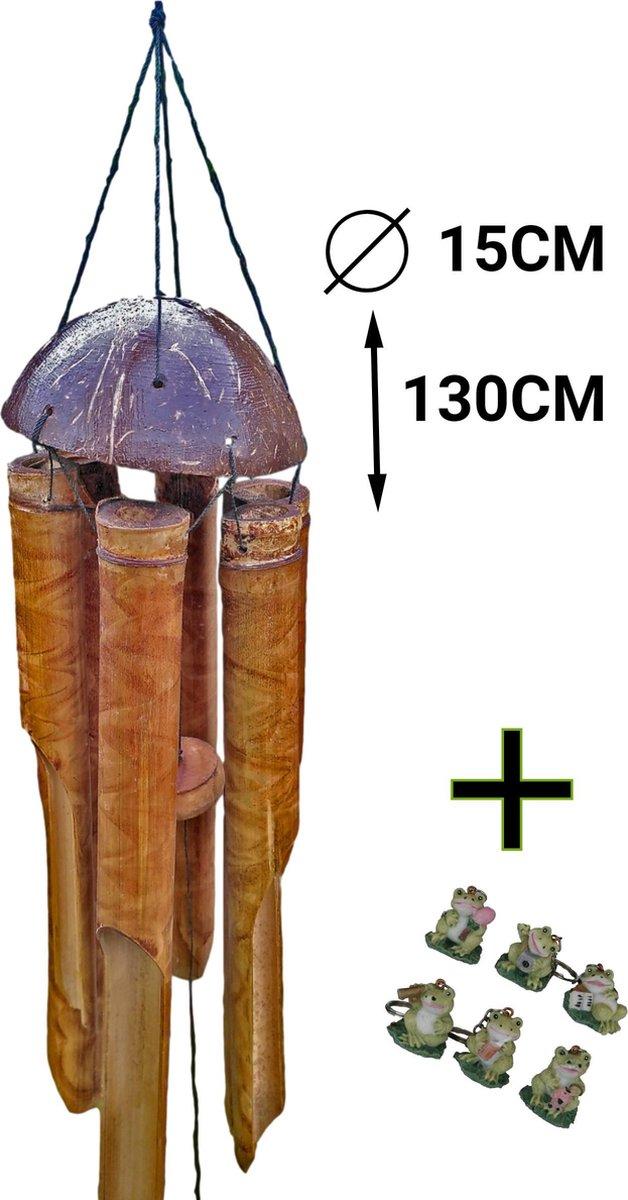 Bamboe windgong - Luxe Bamboo windorgel 130 cm | Inspiring Minds
