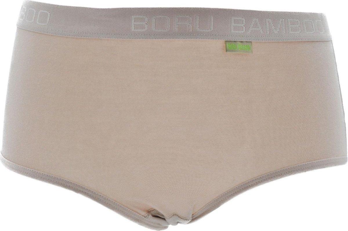 Boru Bamboe Dames Slip Beige 3 paar-XL