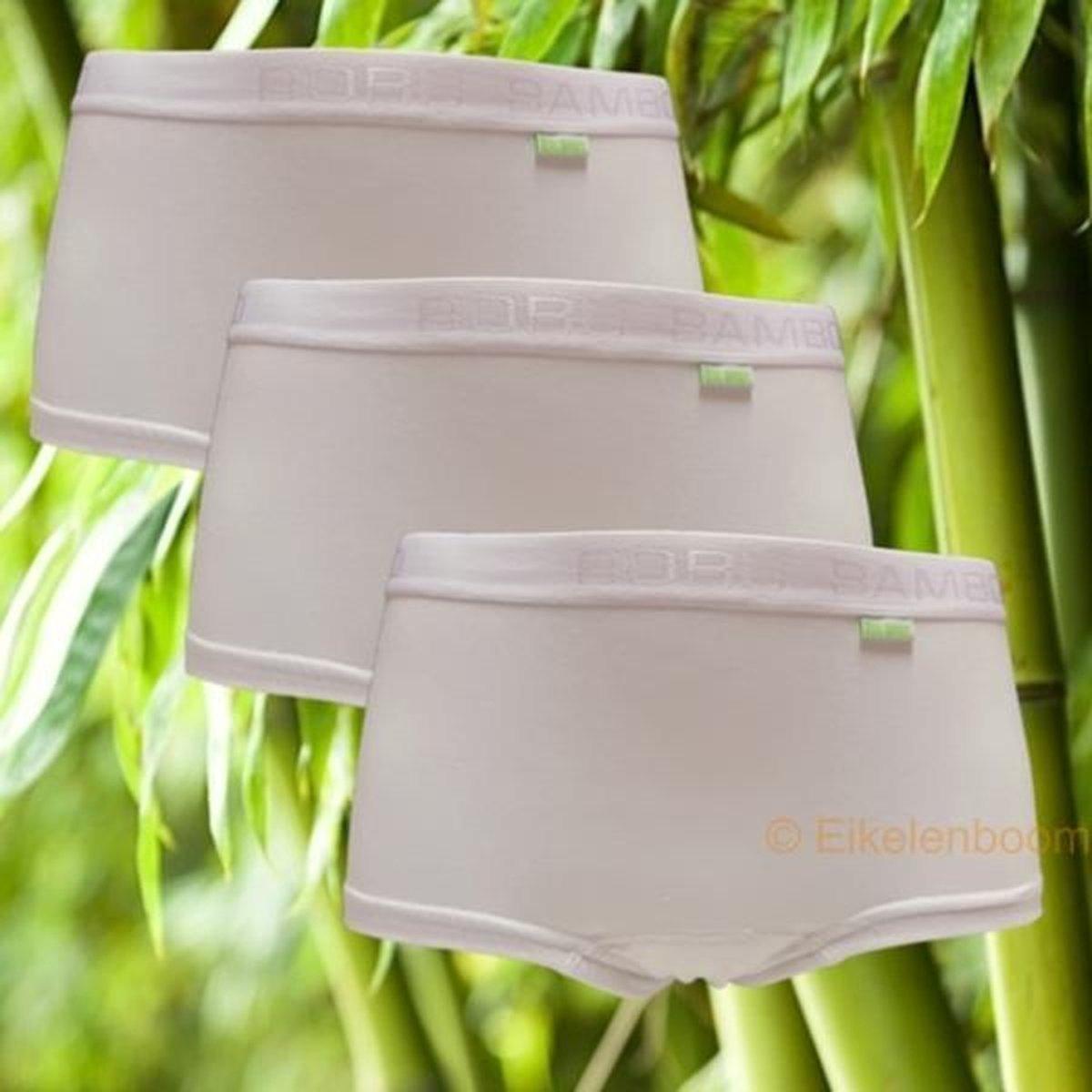 Boru Bamboo | MAAT M | 3-pack dames short | wit