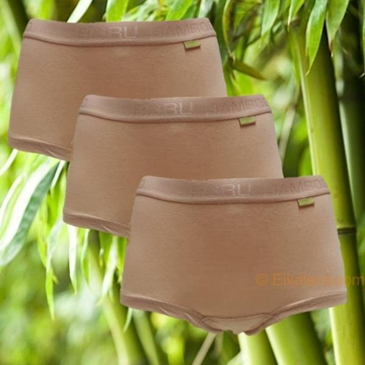 Boru Bamboo   MAAT S   3-pack dames short   huid