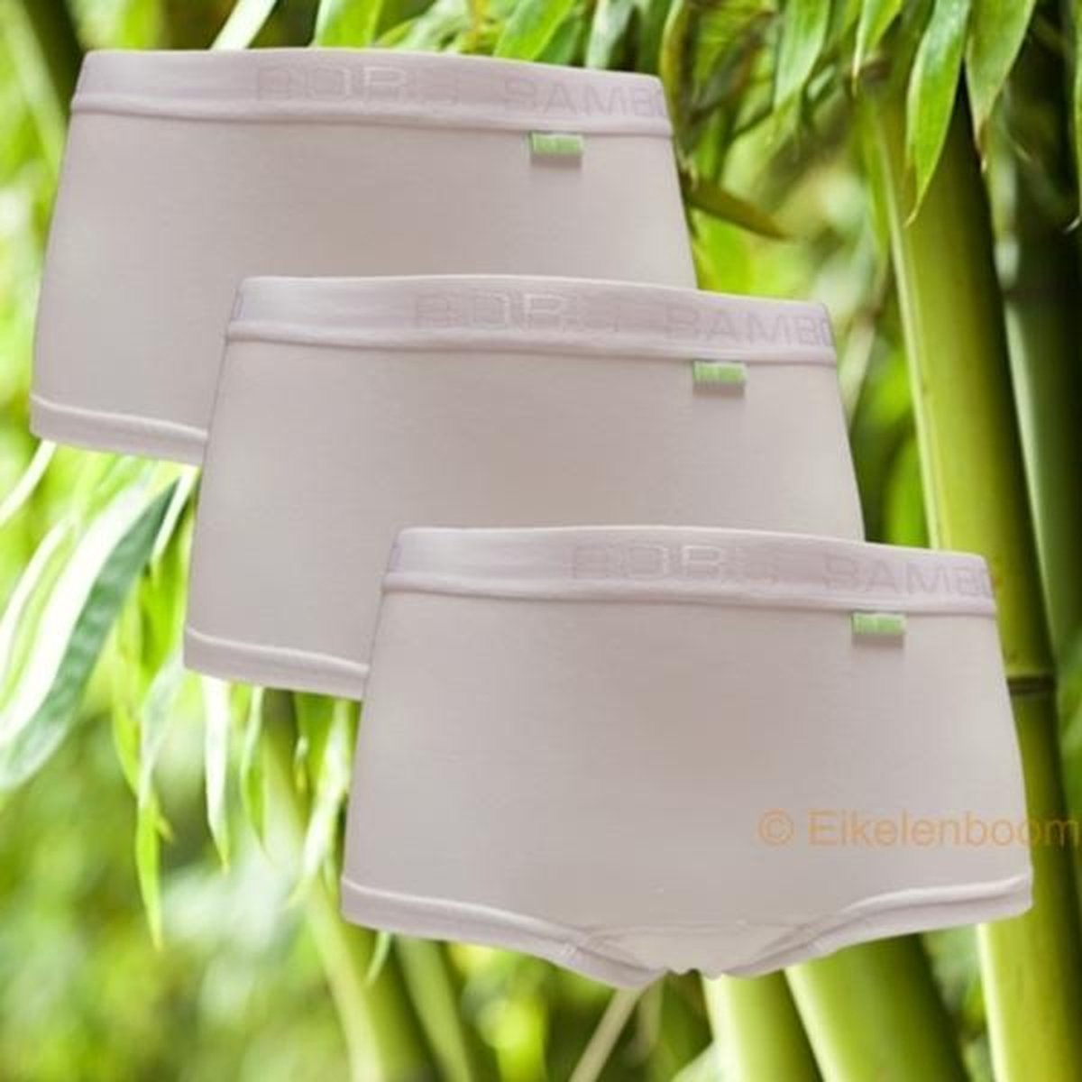 Boru Bamboo | MAAT S | 3-pack dames short | wit