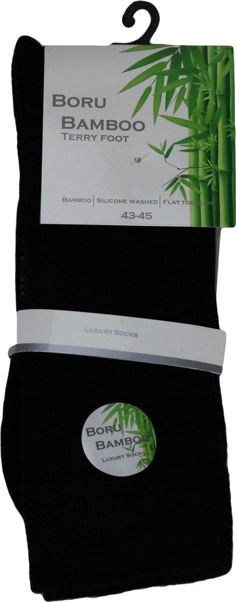Boru Bamboo Sokken Dames Zwart Maat 46/47