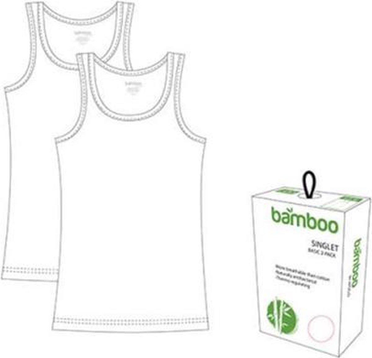 Dames Bamboe Hemd - 2-pack - Wit - Maat M