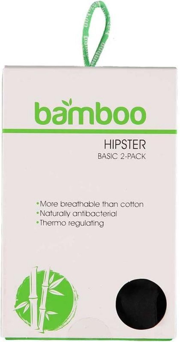 Dames Bamboe Hipster - 2-Pack - Zwart - Maat XL