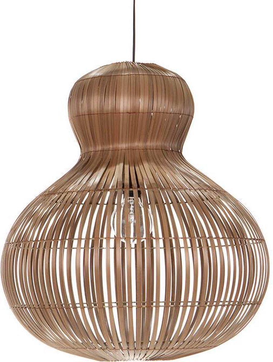 Design hanglamp Labu Naturel Bamboe woonkamer en slaapkamer Ø 50 cm