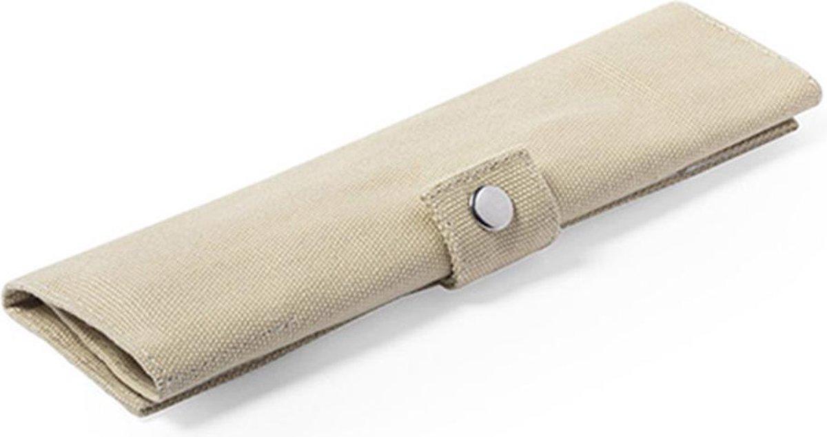 ECO Bamboe bestekset | bamboe rietje | vork mes lepel | duurzaam en met handig opbergtasje