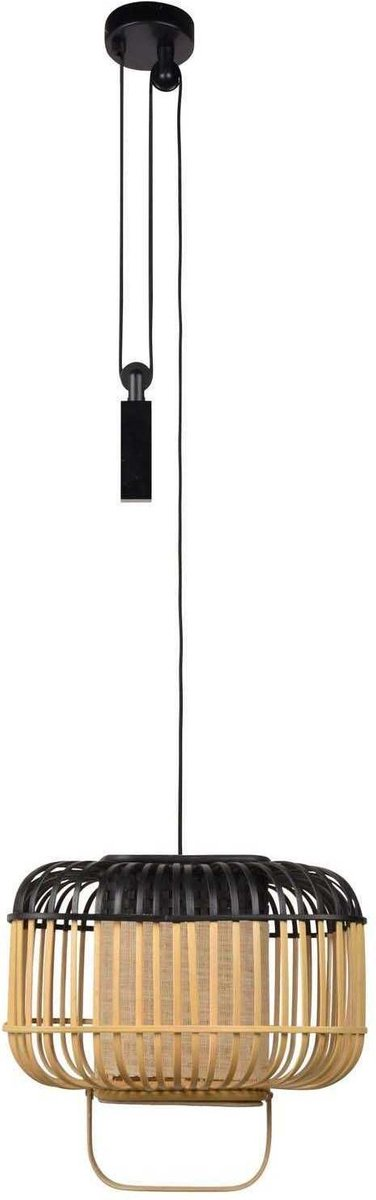 Forestier Bamboo Square Hanglamp Small Black