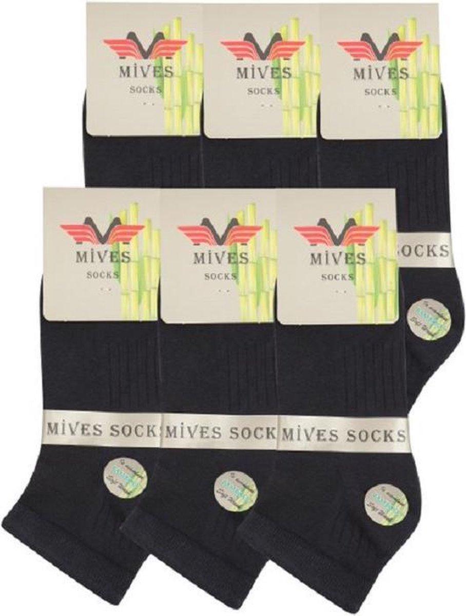 Hoogwaardig Bamboe Herensokken   Naadloos Bamboe 84%  Maat 43-46   6 paar - Blauw - Maat 43-46   Mives Socks   Heren sokken