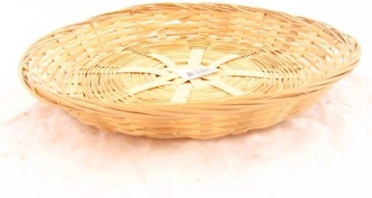 Schaal bamboe gevl. rond laag 30x5cm