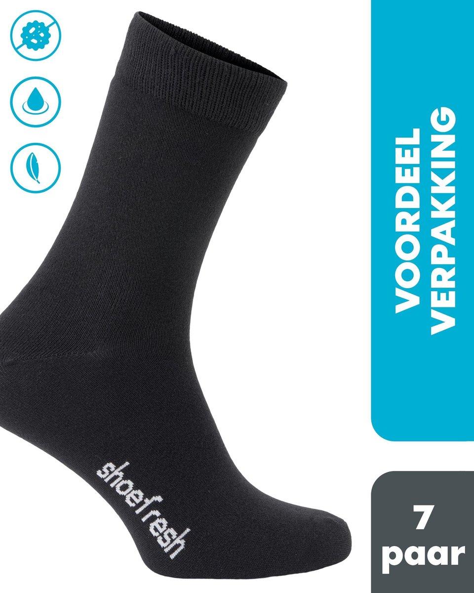 Shoefresh - 7 paar Bamboe Sokken - Heren - Maat 43-45